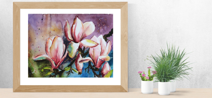 Beautiful Magnolia Painting