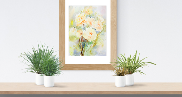 Light of Roses Painting