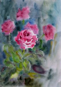 roses energy healing painting