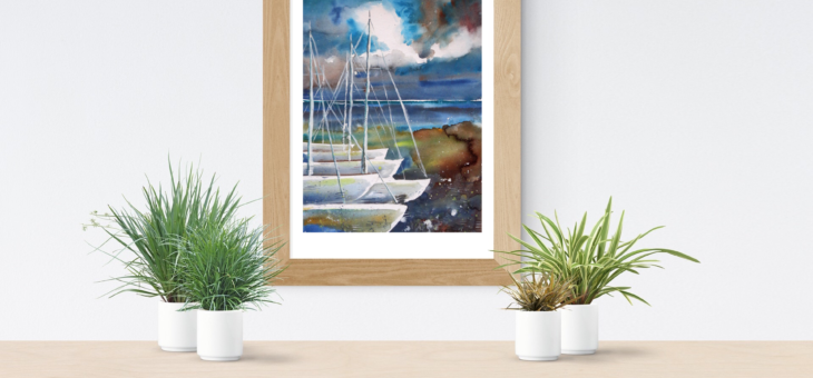 Boats at the pier Painting