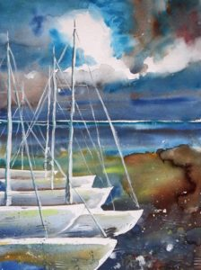 Boats at the pear Painting