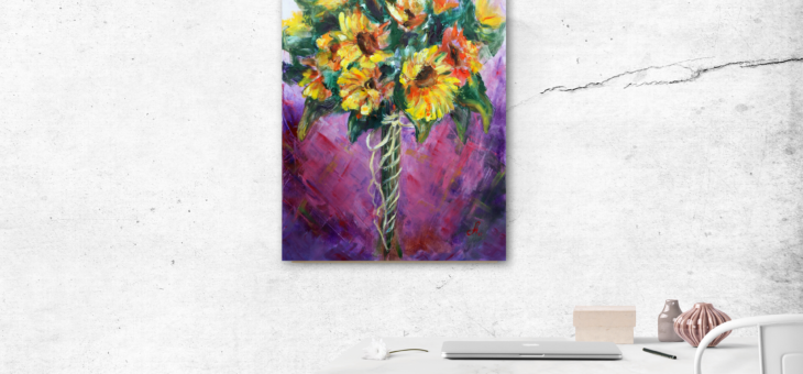 Sunflowers bunch Painting