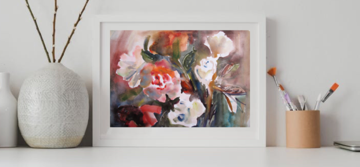 Bunch of roses Painting