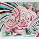 In flow with Rose Energy Painting