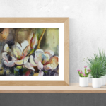 energy healing painting magnolia