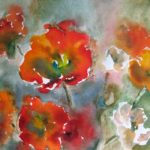 poppy energy healing painting